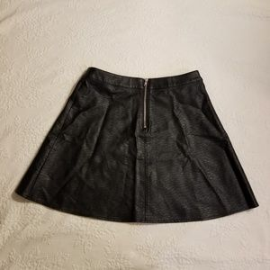 H&M Divided faux leather skirt